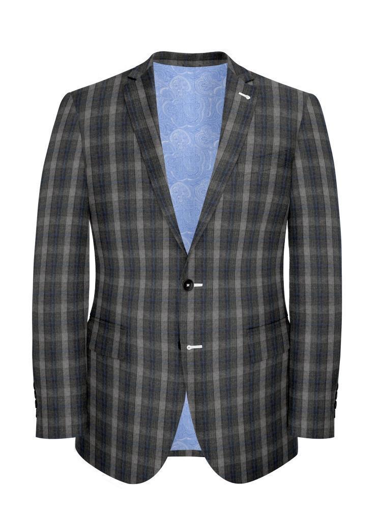 Jacket Grey Check - Wilfred