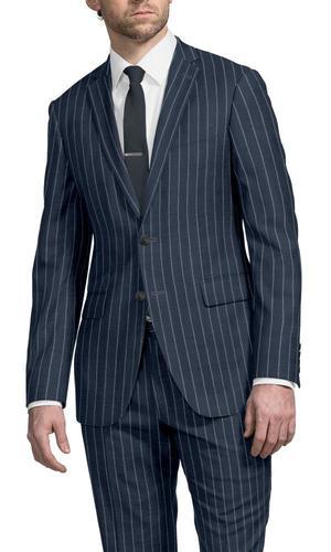 Suit Navy Chalkstripe - Guabello 130