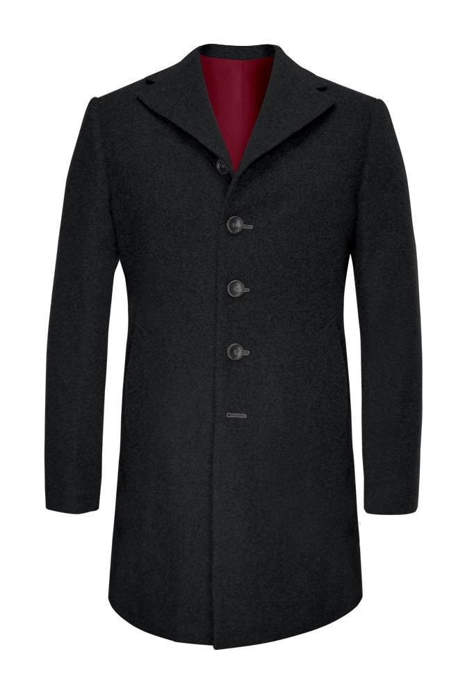 Overcoat Black Wool/Cashmere Blend