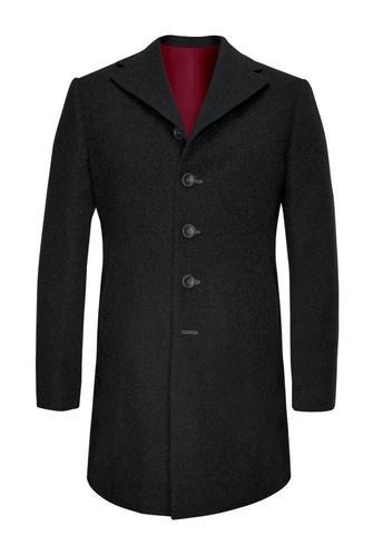Manteau Noir en laine et cachemire