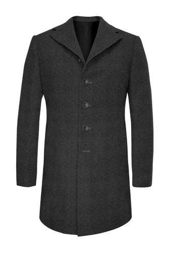 Manteau Gris en laine et cachemire