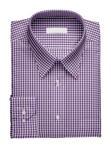 Chemise habillée Vichy Violet - Tenamo