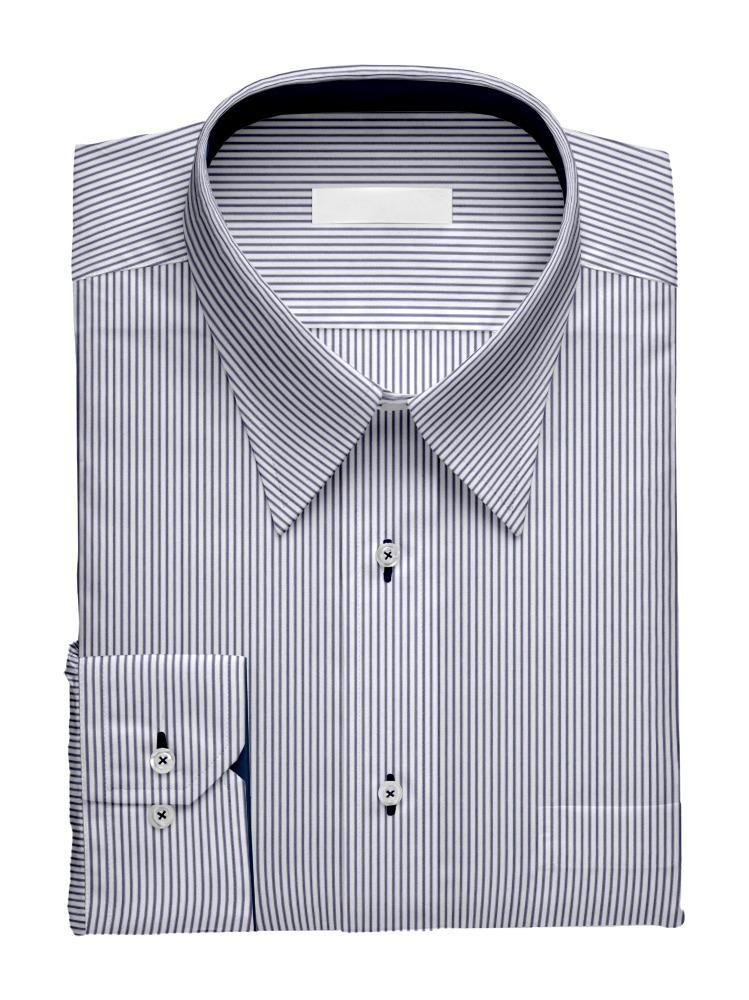 Dress shirt Navy Pencil Stripe - Tenamo