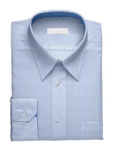 Chemise habillée Petits Carreaux Bleus - Tenamo
