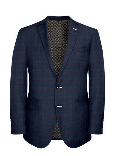 Jacket Blue/Rust Double Check - Georges