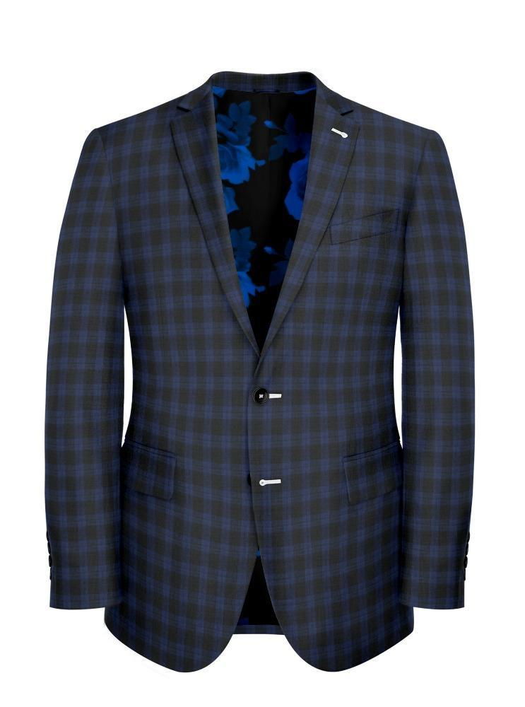 Jacket Royal Blue Plaid - Georges