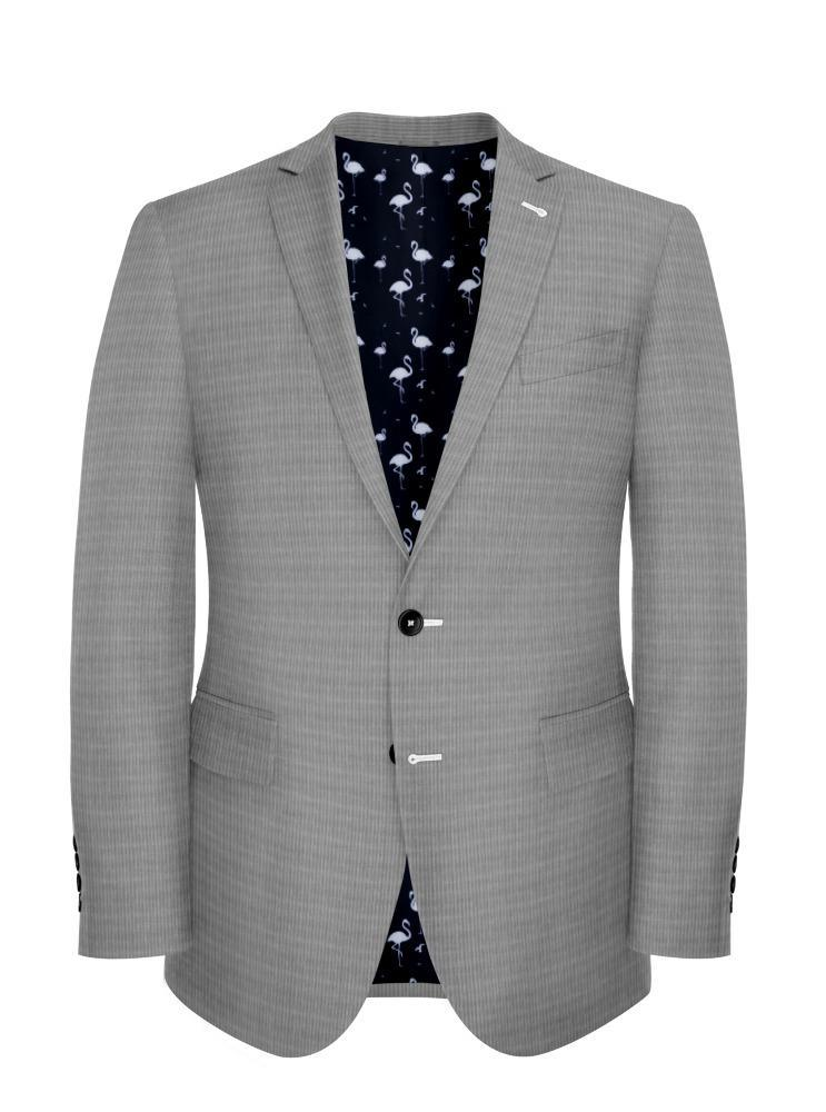 Jacket Light Grey Puppytooth - Oscar +