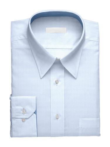 Dress shirt Textured Blue w/ Contrast - Simone