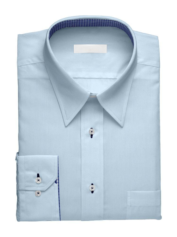 Dress shirt Light Blue Charlotte w/ Contrast