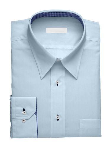 Chemise habillée Charlotte Bleue avec Contraste