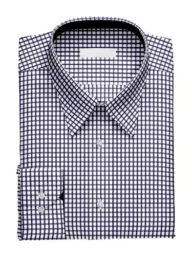 Sport shirt Navy Checks w/ Contrast - Alice