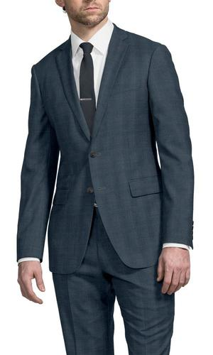 Suit Blue Glen w/ Brown Overcheck - Guabello 130