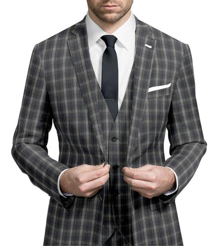 Three-piece suit Grey Check - Wilfred