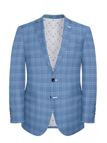 Jacket Light Blue Plaid - Oscar +