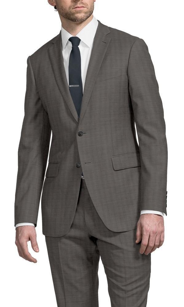 Suit Taupe Sharkskin - Hunter