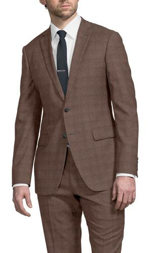 Suit Light Brown Donegal - Lucio