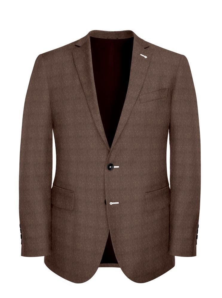 Jacket Light Brown Donegal - Lucio