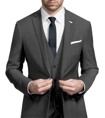 Three-piece suit Mid Grey - Hunter