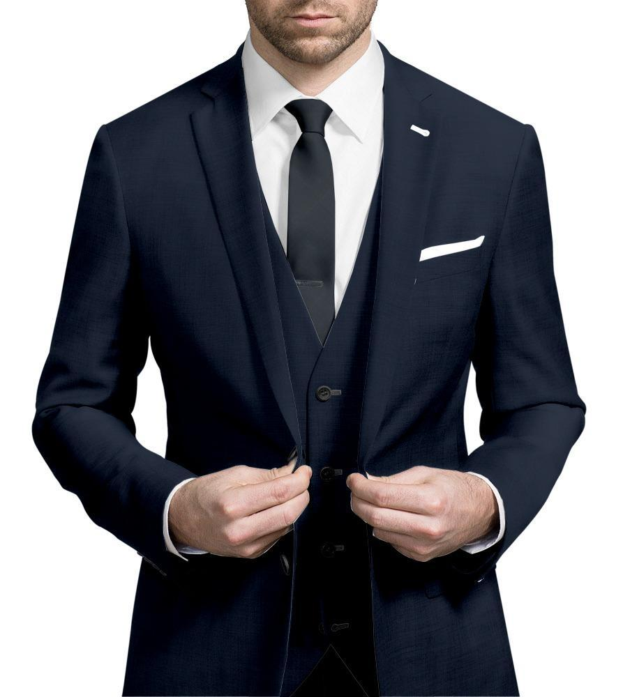 Three-piece suit Navy Blue - Hunter