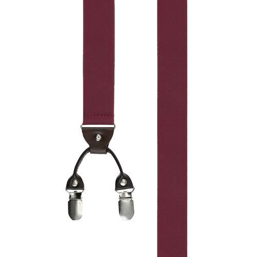 Suspenders Clip Suspenders - Solid Burgundy