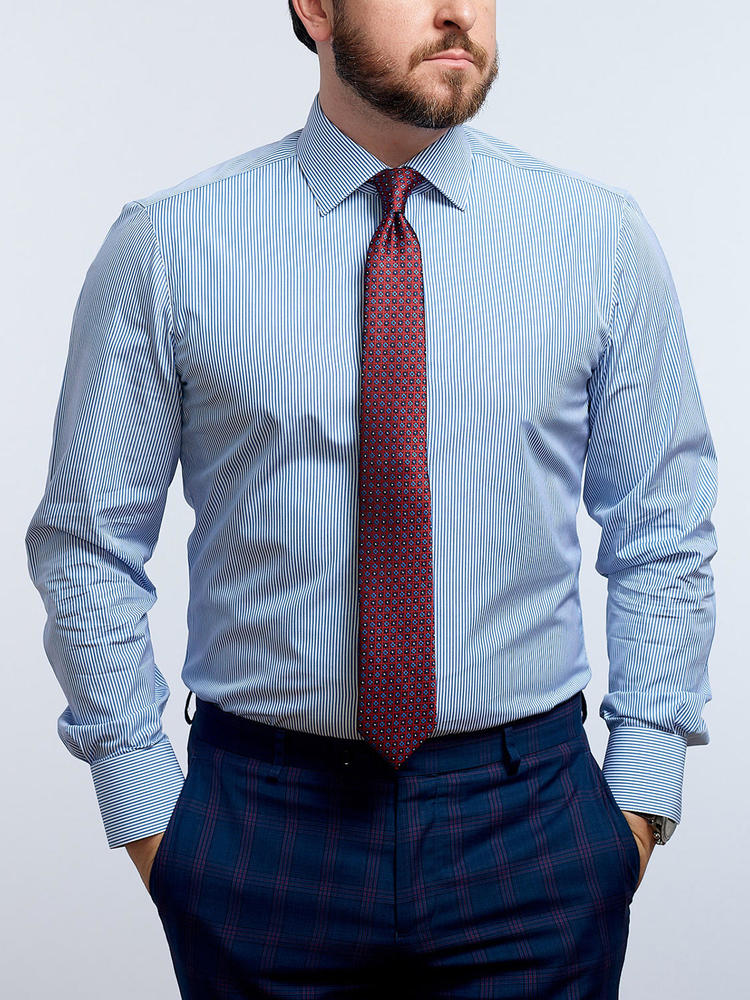 Dress shirt Blue Stripe - Liberty