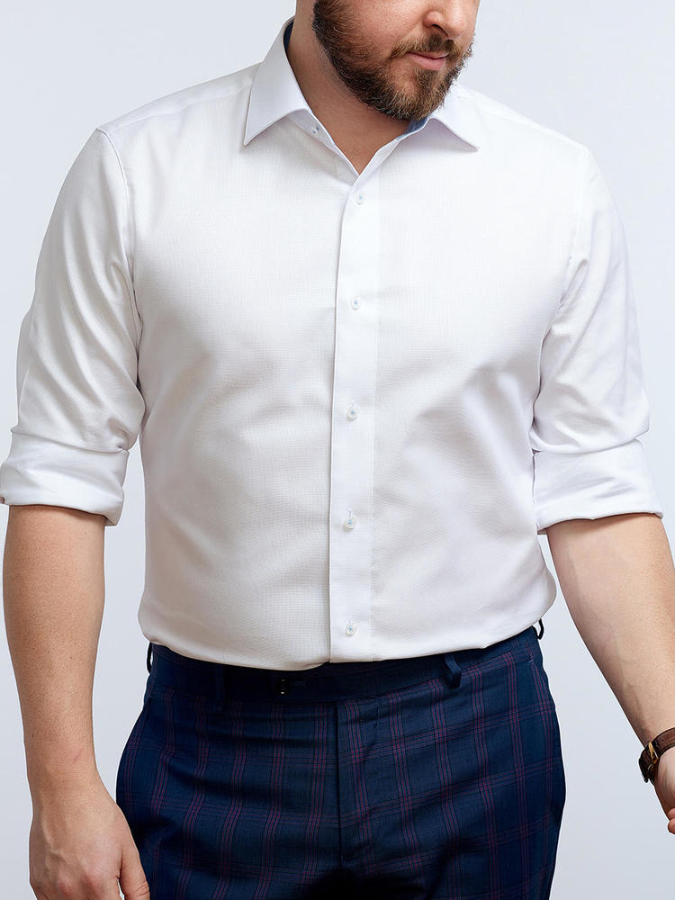 Chemise habillée Blanche avec contraste - Gisèle
