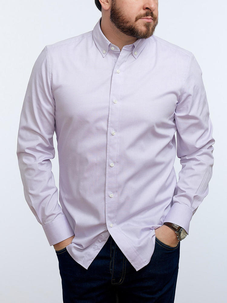 Sport shirt Lilac w/ contrast - Charlotte