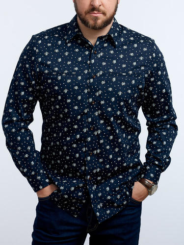 Sport shirt Dark floral - Evelyn