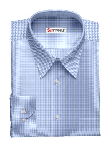 Dress shirt bleu carré