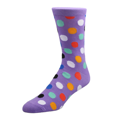 Socks Socks - Purple with Polka Dot