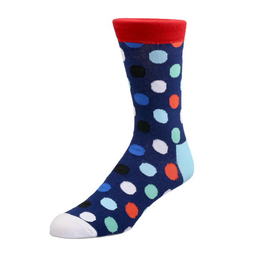 Socks Socks - Navy with Polka Dot
