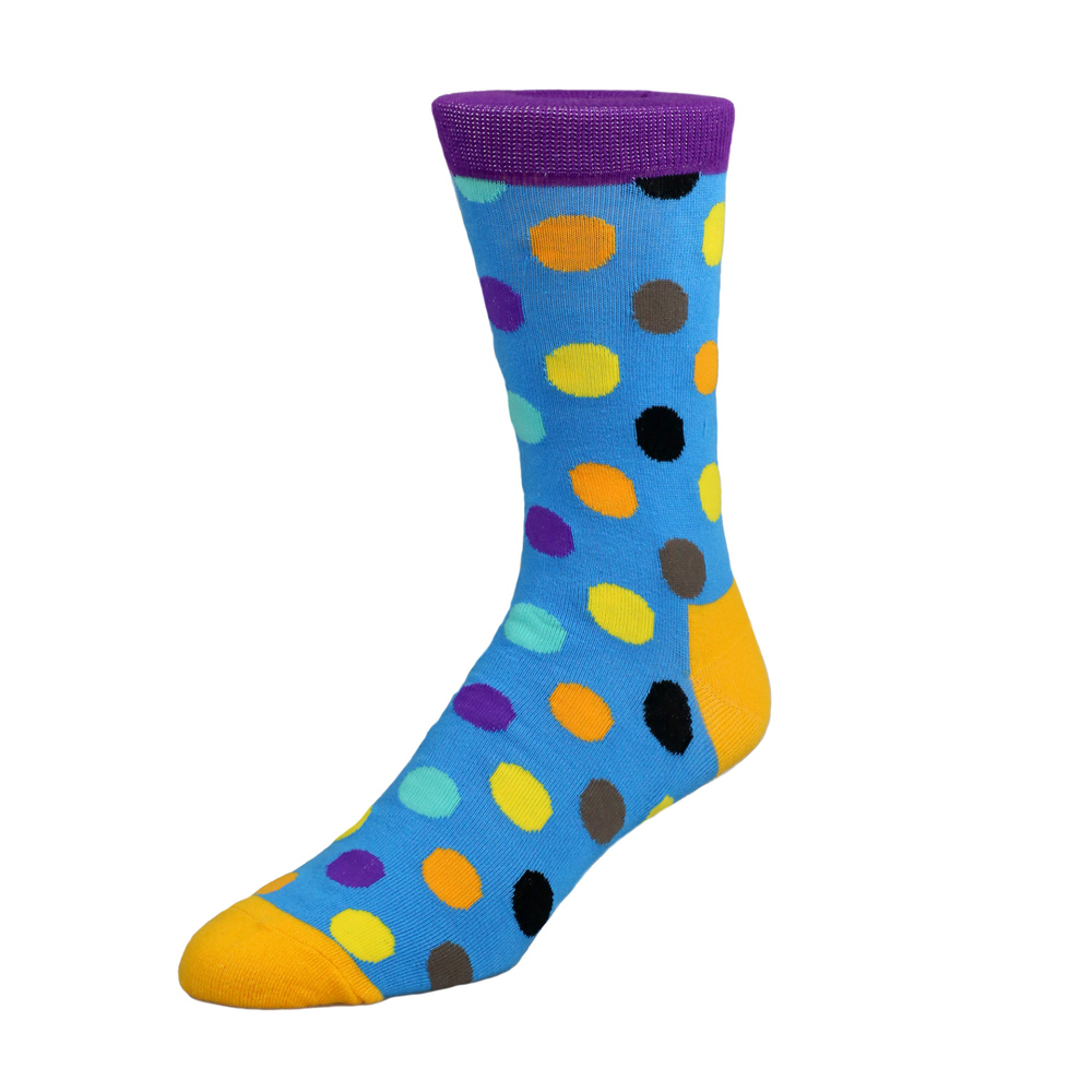 Socks Socks - Blue with Polka Dot