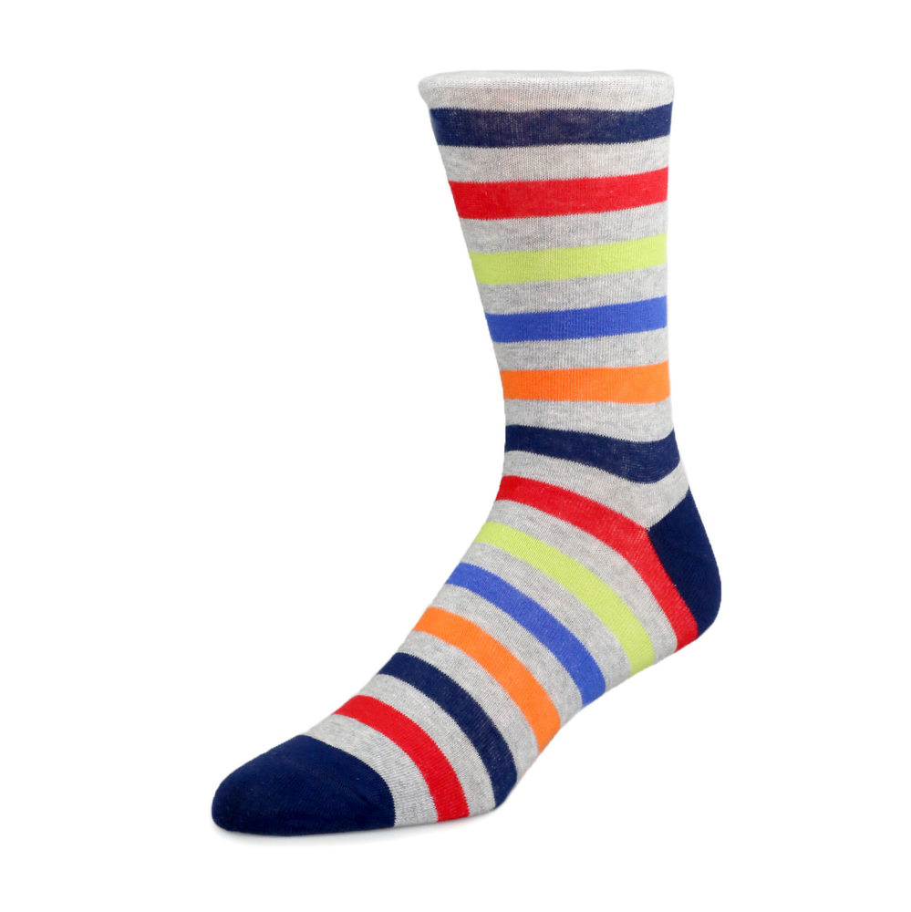 $6 Socks Socks - Colorful Stripes
