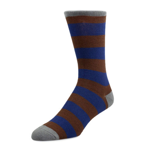 Socks Socks - Brown and Blue