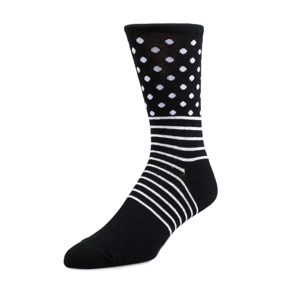Socks Socks - Straight Lines with Polka Dot