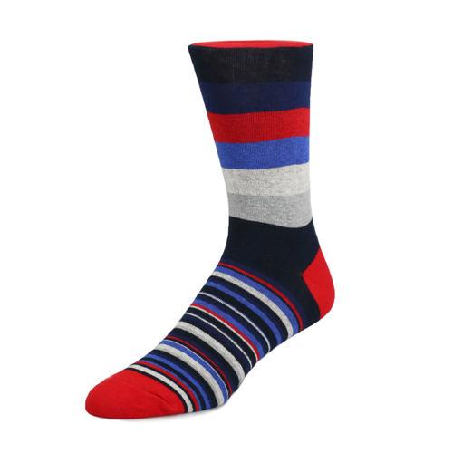 Chaussettes Chaussettes - Rouge, bleu et gris