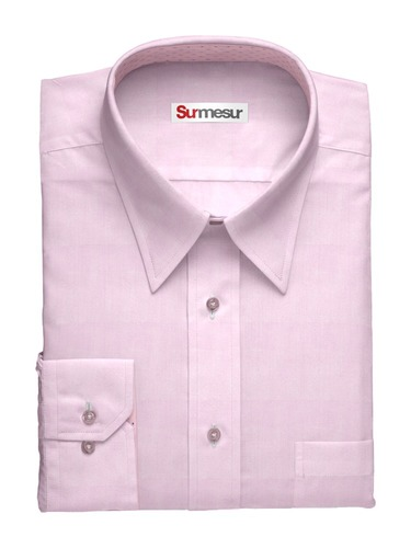 Dress shirt Pink Herringbone