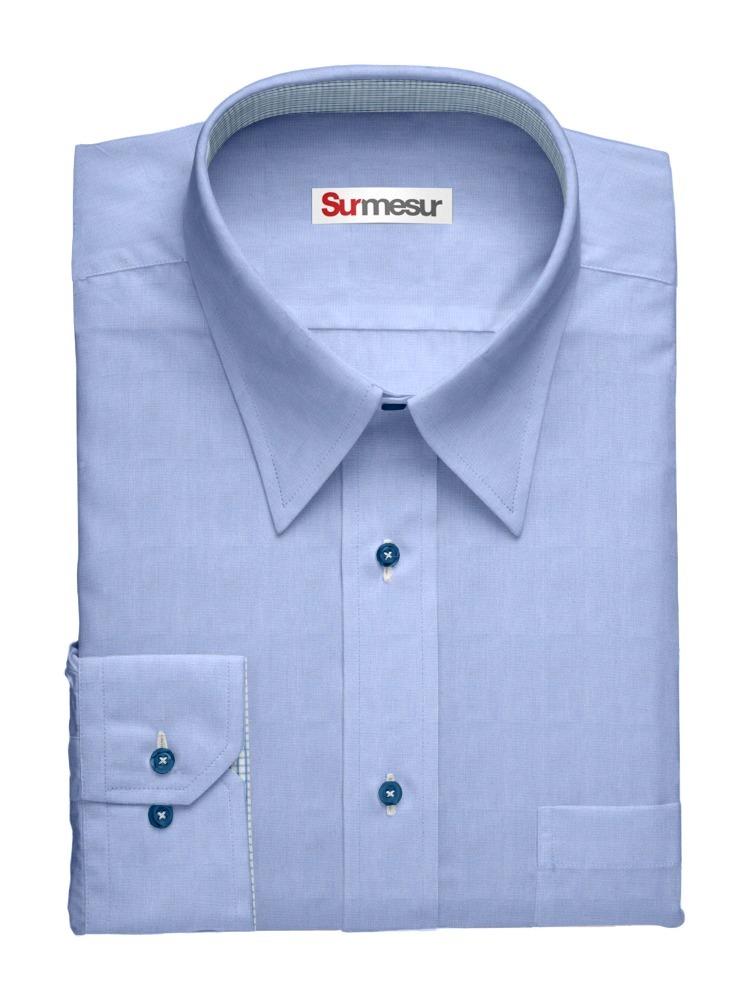Dress shirt Blue End on End