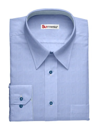 Dress shirt Blue End on End
