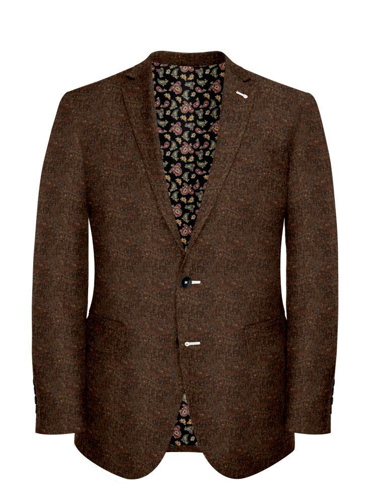 Veston Tweed Donegal Brun - Stuart +