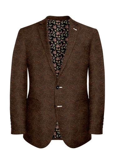 Veston Tweed Donegal Brun - Stuart +