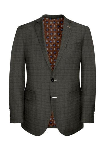 Jacket Taupe Glen Check - Lucio