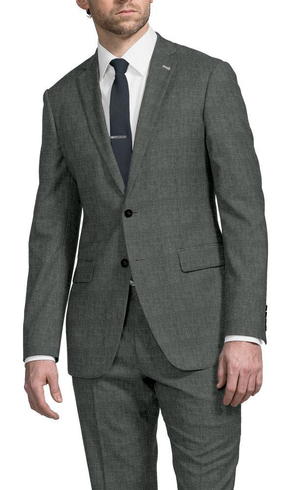 Suit Muted Grey Puppytooth - Lucio