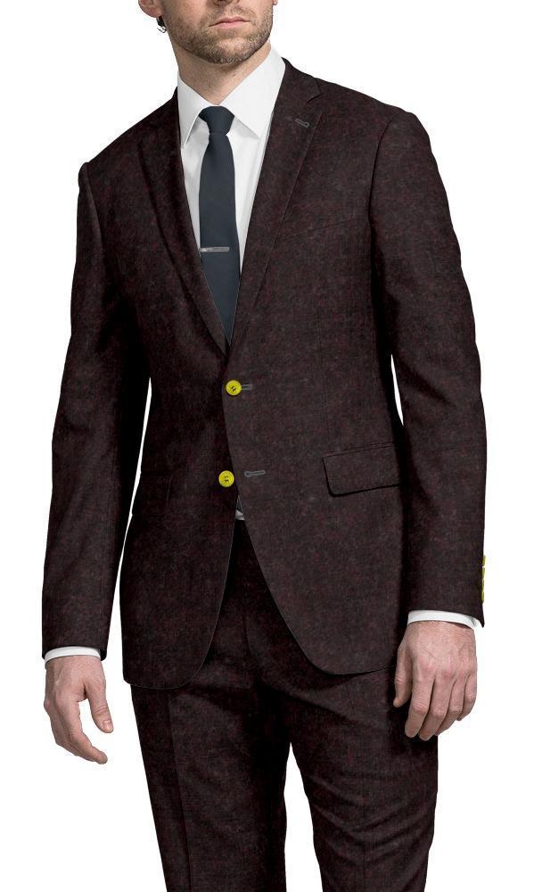 Suit Burgundy Flannel - Lucio