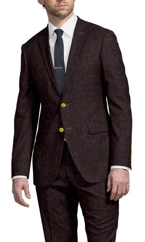 Suit Burgundy Flannel - Lucio