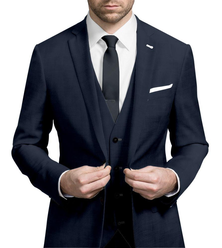 Three-piece suit Navy Blue - Guabello 130