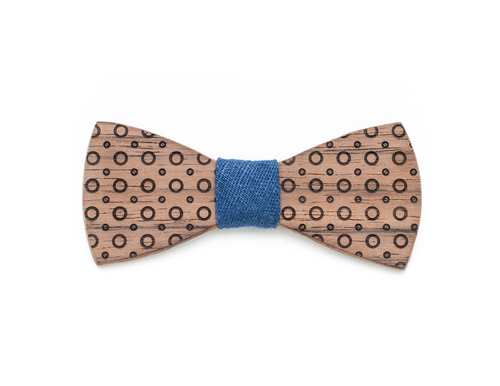 "Bow tie Engraved wood Bow tie ""Soho"""