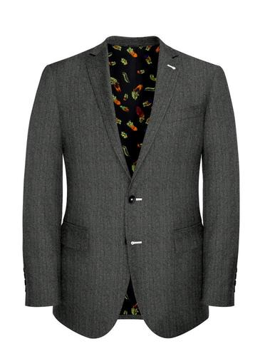 Jacket Grey Herringbone - Lucio