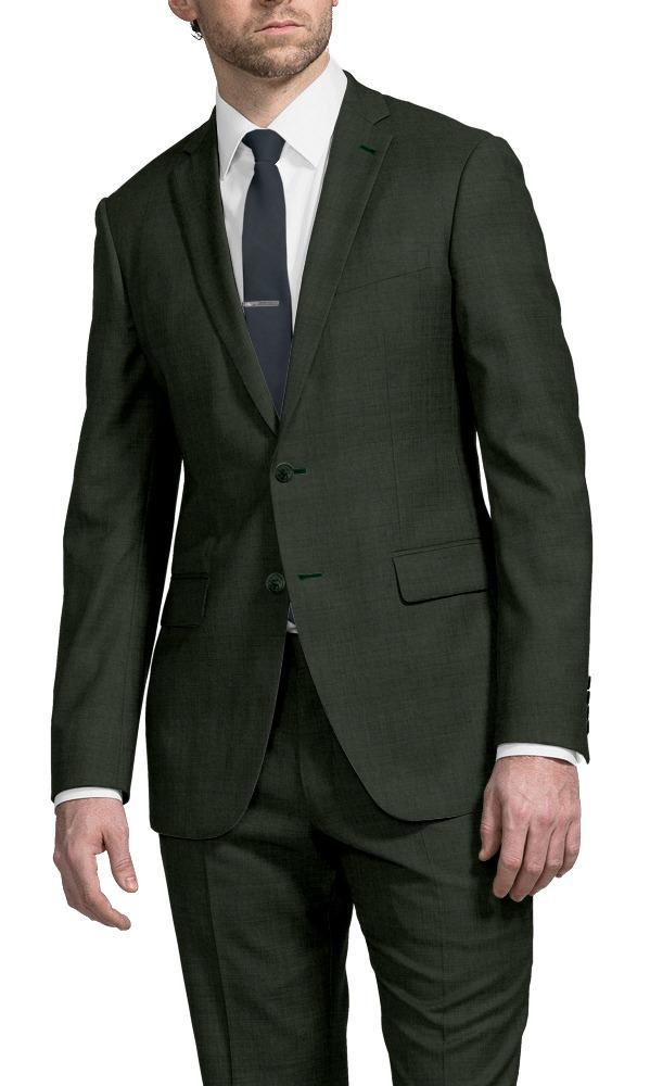 Suit Dark Green - Black Ice Flannel