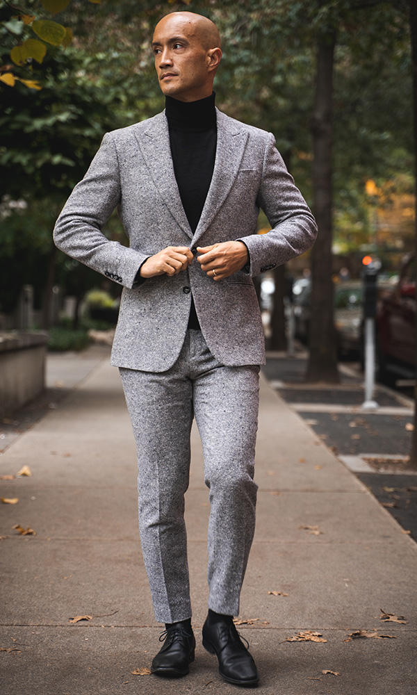 Suit Grey Donegal Tweed Suit